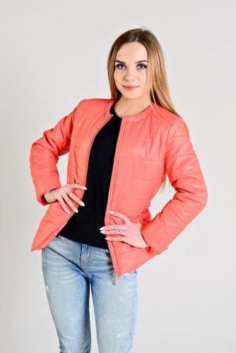 Демисезонная женская куртка,цвет-коралл
