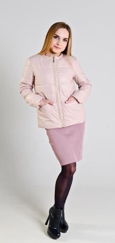Демисезонная женская куртка,цвет-розовый жемчуг