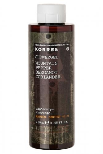 Korres Мужская Линия М Товар Гель для душа горный перец, бергамот, кориандр 250 мл