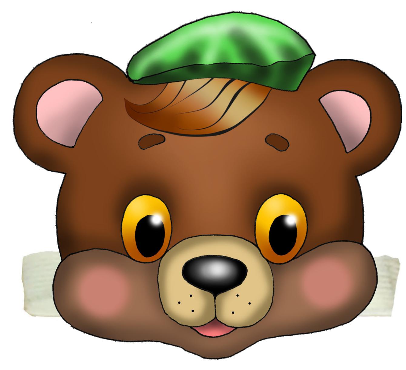 Картинка морда медведя для детей