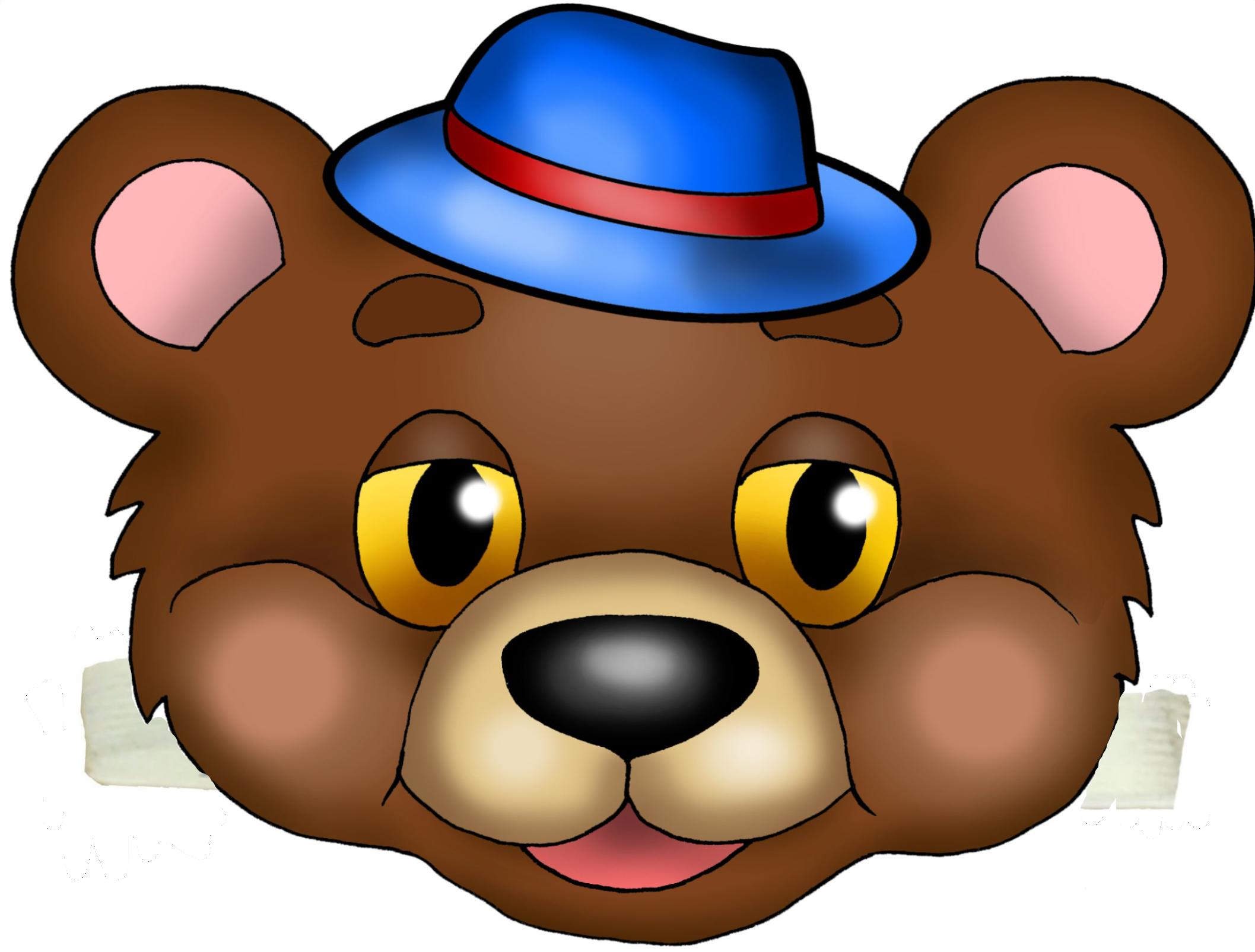 Картинка мордочка медведя для детей