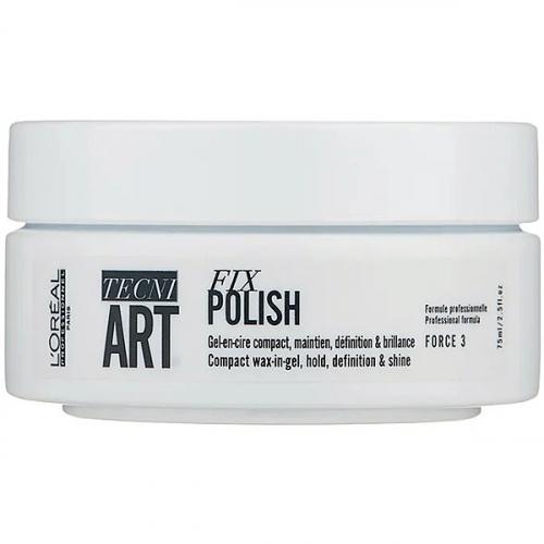 Гель-воск для блеска и фиксации волос (L'oreal Professionnel Tecni.Art Fix Polish) – 75 мл