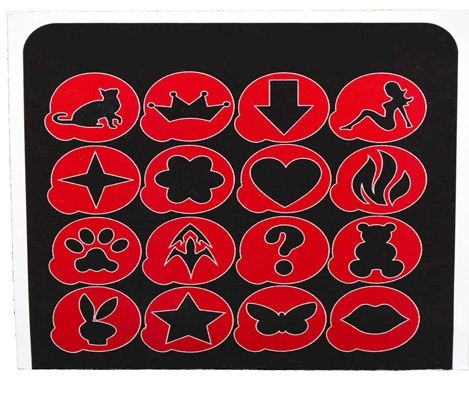 Набор для бикини-дизайна EPILSHOP  с 12 трафаретами