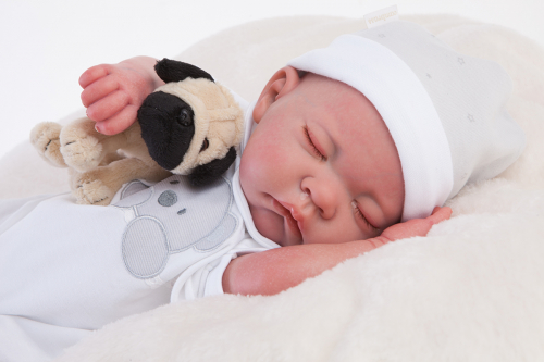 1 шт. доступно/ 8108 Кукла Реборн младенец Рамон, спящий, 40см
