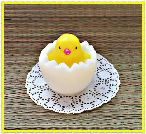 мыло, цыплёнок в яйце
