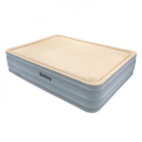 Кровать надувная Comfort Raised Queen с мягкой поверхностью, встроенный электронасос 203х152х46см (67 Bestway
