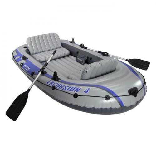 Лодка Excursion 4-х местная, 315х165х43см,вёсла, насос, до 500 кг 68324NP INTEX