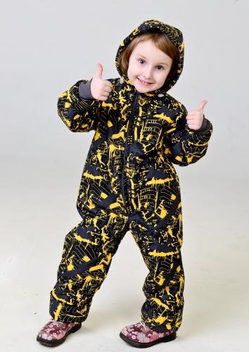 Комбинезон детский слитный, цвет- мегаполис желтый