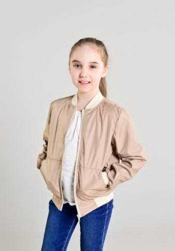 Куртка-бомбер детская, цвет-капучино