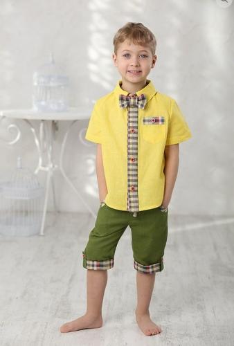 рубашка для мальчика Л16-10 Мажор желтый