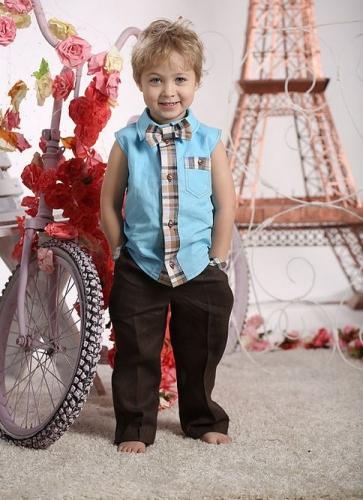 рубашка для мальчика Франт М-403 голубой