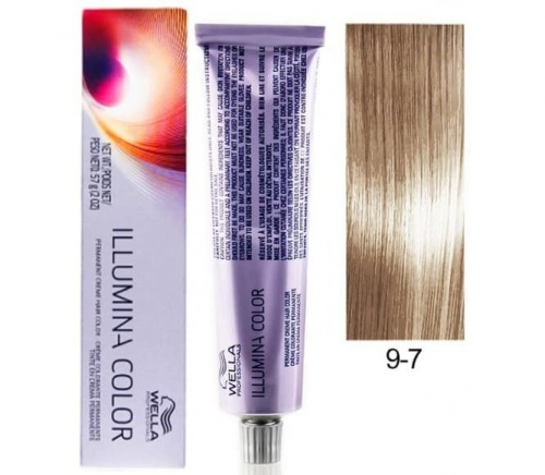 Wella Professional Illumina Color 9/7 Очень светлый блонд коричневый 60 мл