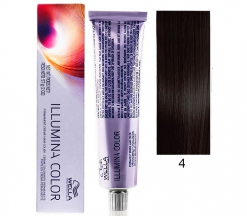Wella Professional Illumina Color 4/ коричневый 60 мл