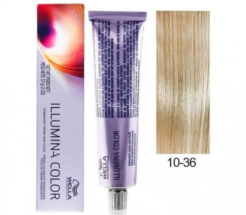 Wella Professional Illumina Color 10/36 Яркий блонд золотисто-фиолетовый 60 мл