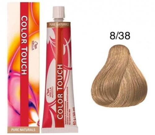 Wella Color Touch 8/38 светлый блонд золотой жемчуг 60 мл