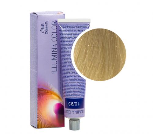 Wella Professional Illumina Color 10/93 яркий блонд золотистый сандре 60 мл
