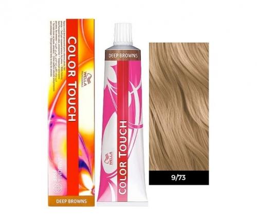 Wella Color Touch 9/73 очень светлый блонд коричнево-золотистый 60 мл