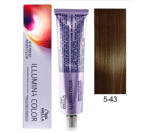 Wella Professional Illumina Color 5/43 Светло-коричневый красно-золотистый 60 мл