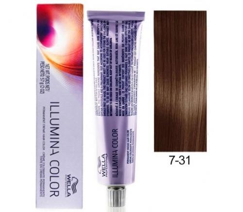 Wella Professional Illumina Color 7/31 Блонд золотисто-пепельный 60 мл