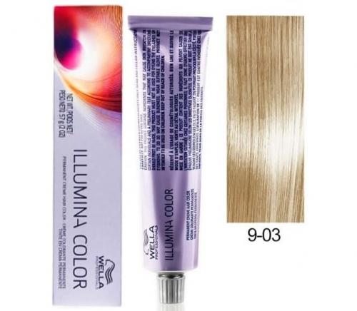 Wella Professional Illumina Color 9/03 яркий блондин натуральный золотистый 60 мл