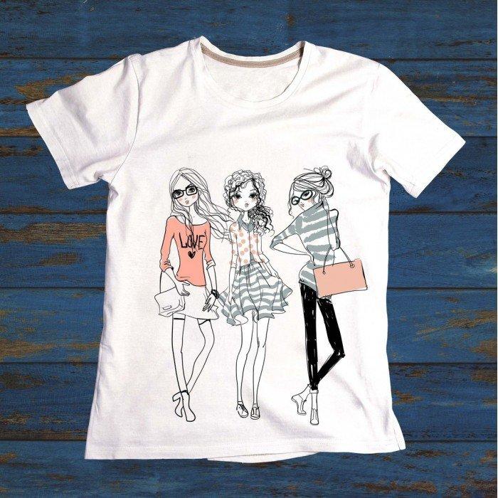 картинка на футболке подруге всего