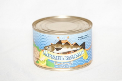 Печень минтая натуральная 250г банка №6