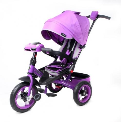 Велосипед 3кол. с разворотным сиденьем Leader 360° 12x10 AIR Car, фиол.