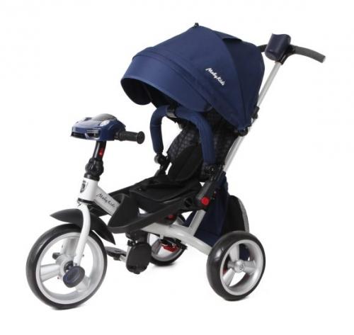 Велосипед 3кол. с разворотным сиденьем Leader 360° 12x10 EVA Car, синий