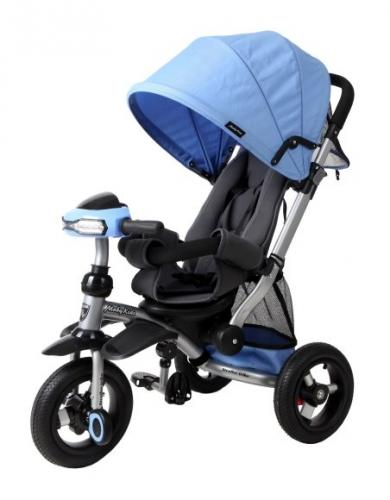Велосипед-коляска 3кол. Stroller trike 10x10 AIR Car, син.
