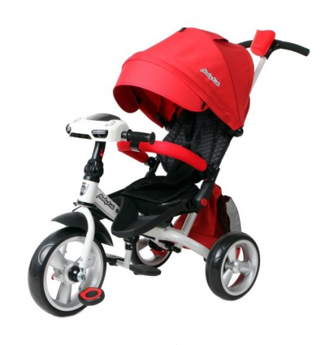 Велосипед 3кол. с разворотным сиденьем Leader 360° 12x10 EVA Car, красный