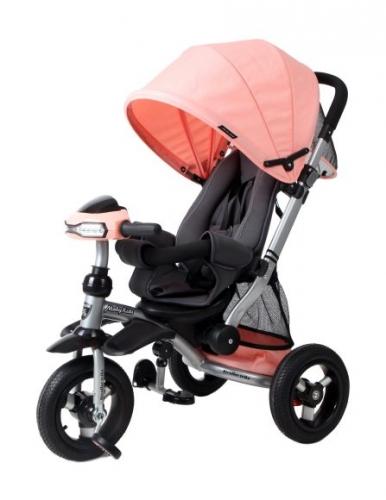 Велосипед-коляска 3кол. Stroller trike 10x10 AIR Car, персик.