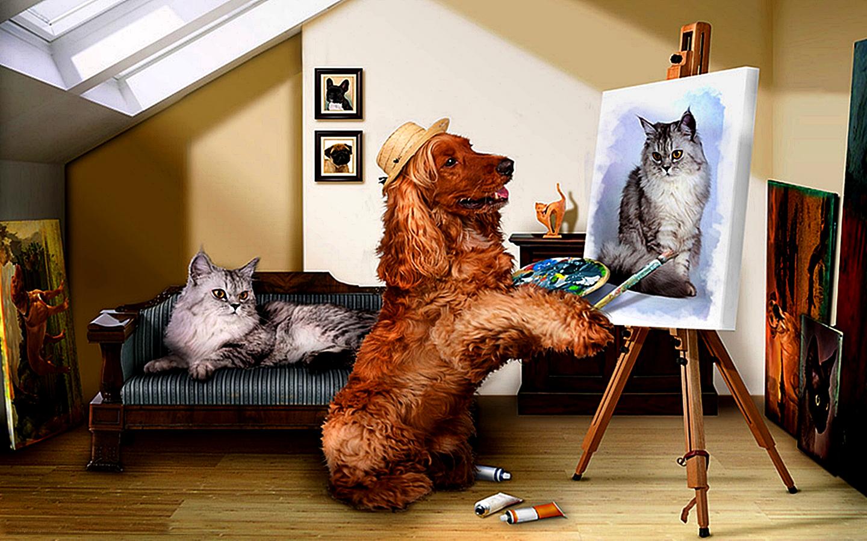 картинки художников рисующих котов утверждают