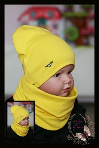 Удл. шапка для мальчика a-masculinity (желт)