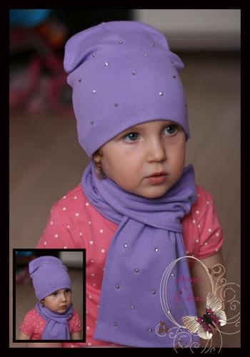Удл.аметистовая шапка со стразами «Таисия»