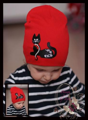 Удл.шапочка красная «Кошка Пуся»