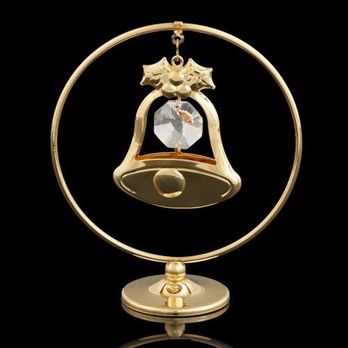 Сувенир «Колокольчик  в кольце», 3х7х8 см, с кристаллами Сваровски