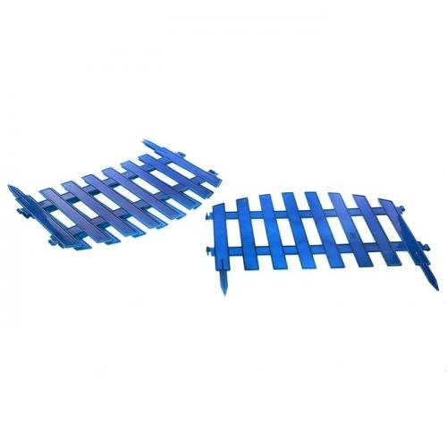 Ограждение декоративное, 35 х 300 см, 7 секций, пластик, синее