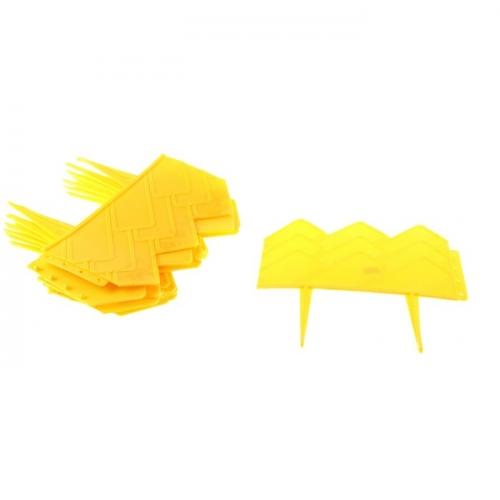 Ограждение декоративное, 14 х 310 см, 13 секций, пластик, жёлтое,