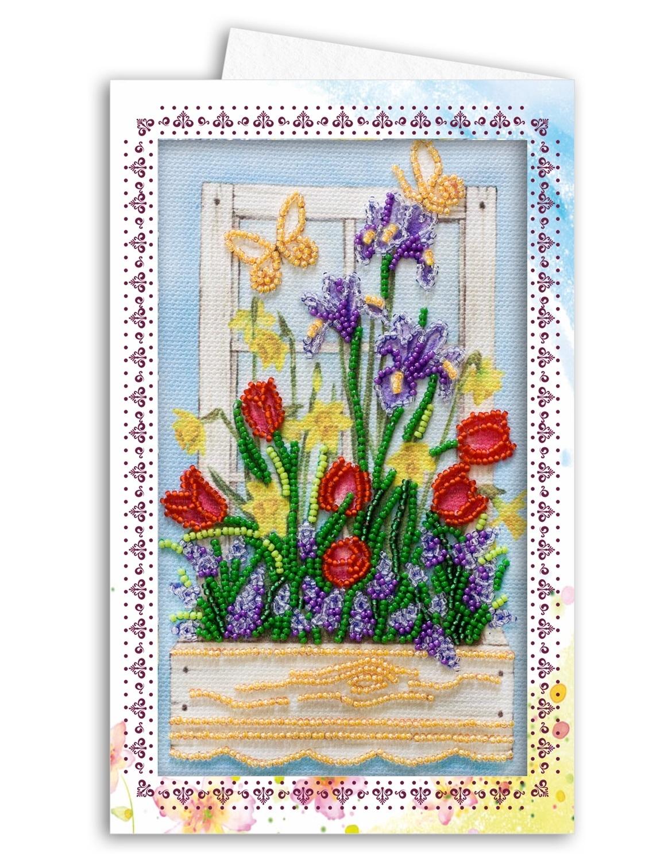 Схемы открытки из бисера