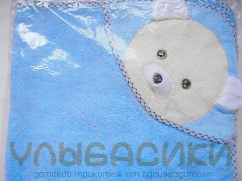 Детское полотенце с уголком (махра) 78 х 78