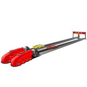 1:43 Ferrari Игровой набор: пусковое устройство + 2 а/м (со звук. и свет. эффектами)