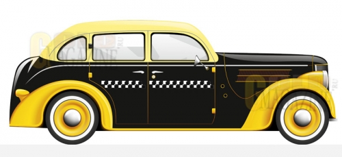 Детская кровать машина Taxi