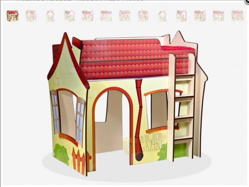 Детская кровать-чердак Little-House