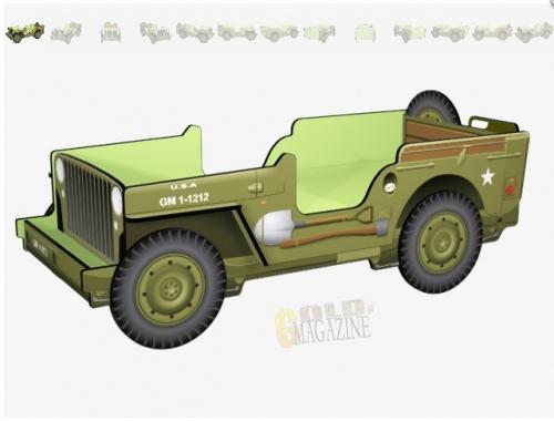 Кровать джип GM 1-1212