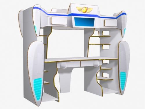 Кровать-чердак для мальчиков Shuttle