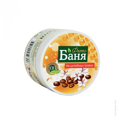 Скраб для бани Мёд и кофейные зёрна с антицеллюлитным эффектом