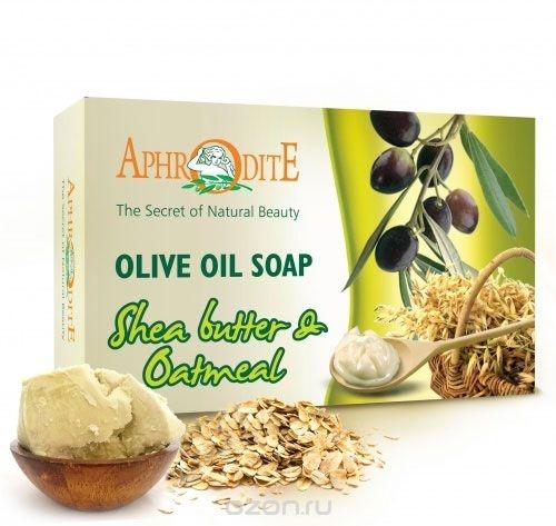 Мыло оливковое с маслом ши и овсянкой