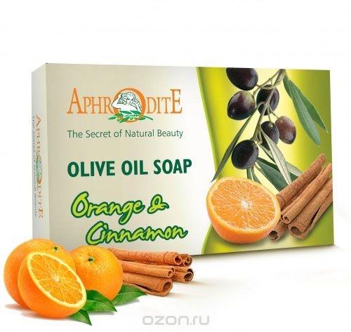 Мыло оливковое с маслом апельсина и корицей