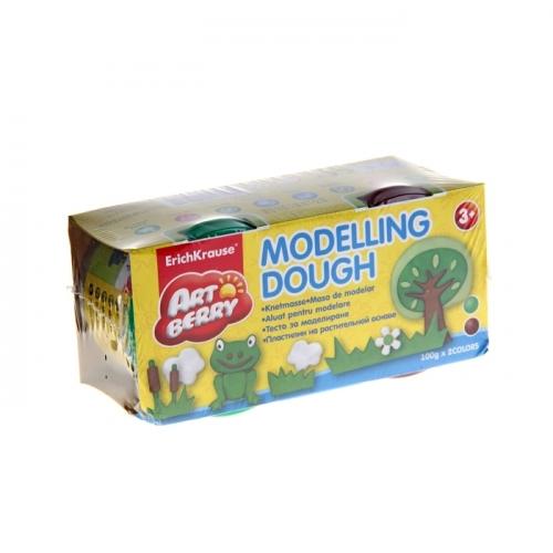 Пластилин на растительной основе набор 2 цвета*100г Modelling Dough зеленый, коричневый 3271