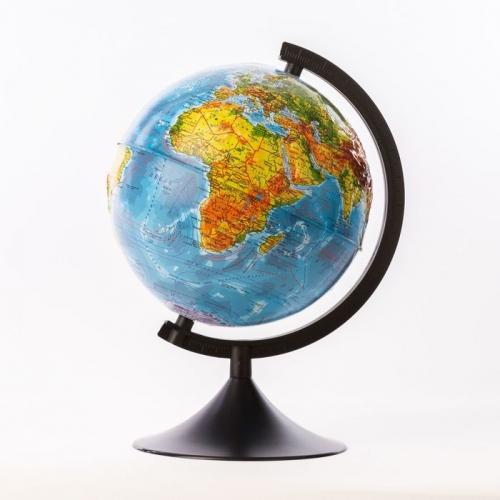 Глобус физический рельефный диаметр 210мм